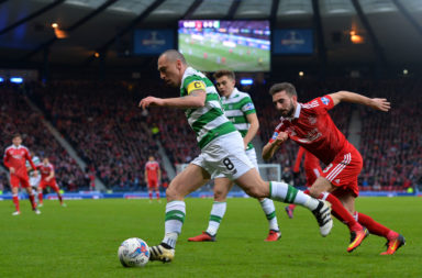 Scott Brown and Graeme Shinnie battled endlessly