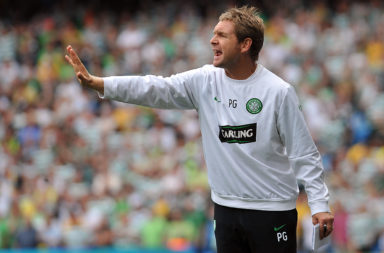 Peter Grant during his time as a Celtic coach