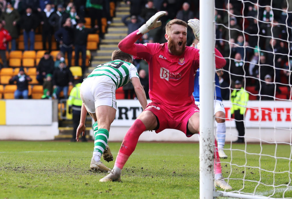 Zander Clark hasn't had much luck against Celtic in the past