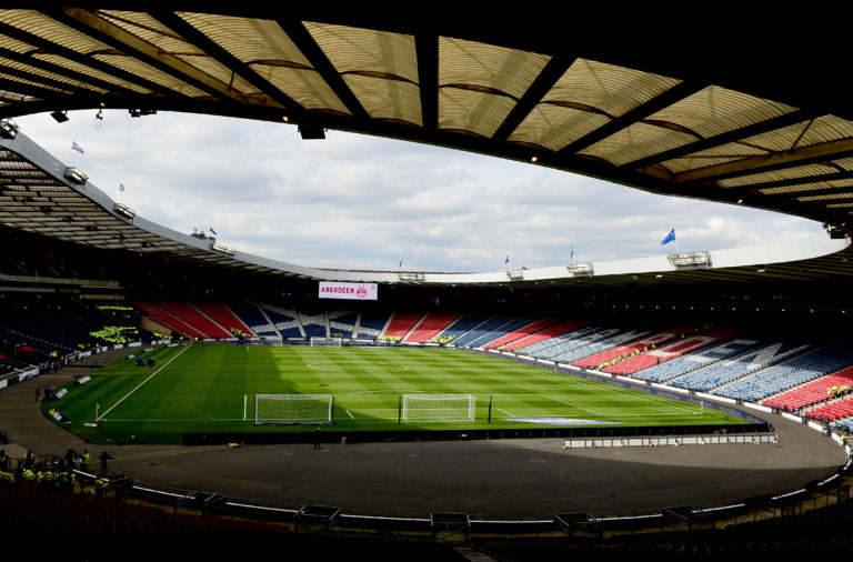 Hampden will be empty on Sunday