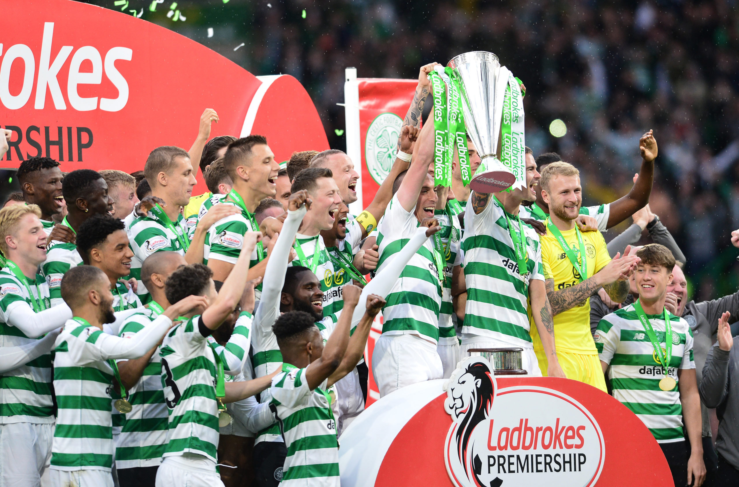 Celtic celebrate another Premiership crown