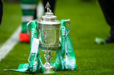 The Scottish Cup in Celtic ribbons
