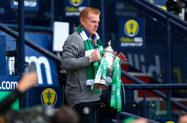 Neil Lennon with the Scottish Cup