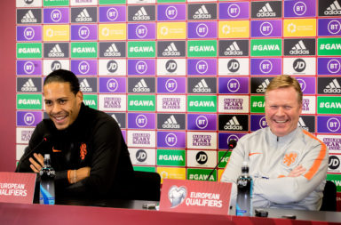Virgil van Dijk and Ronald Koeman