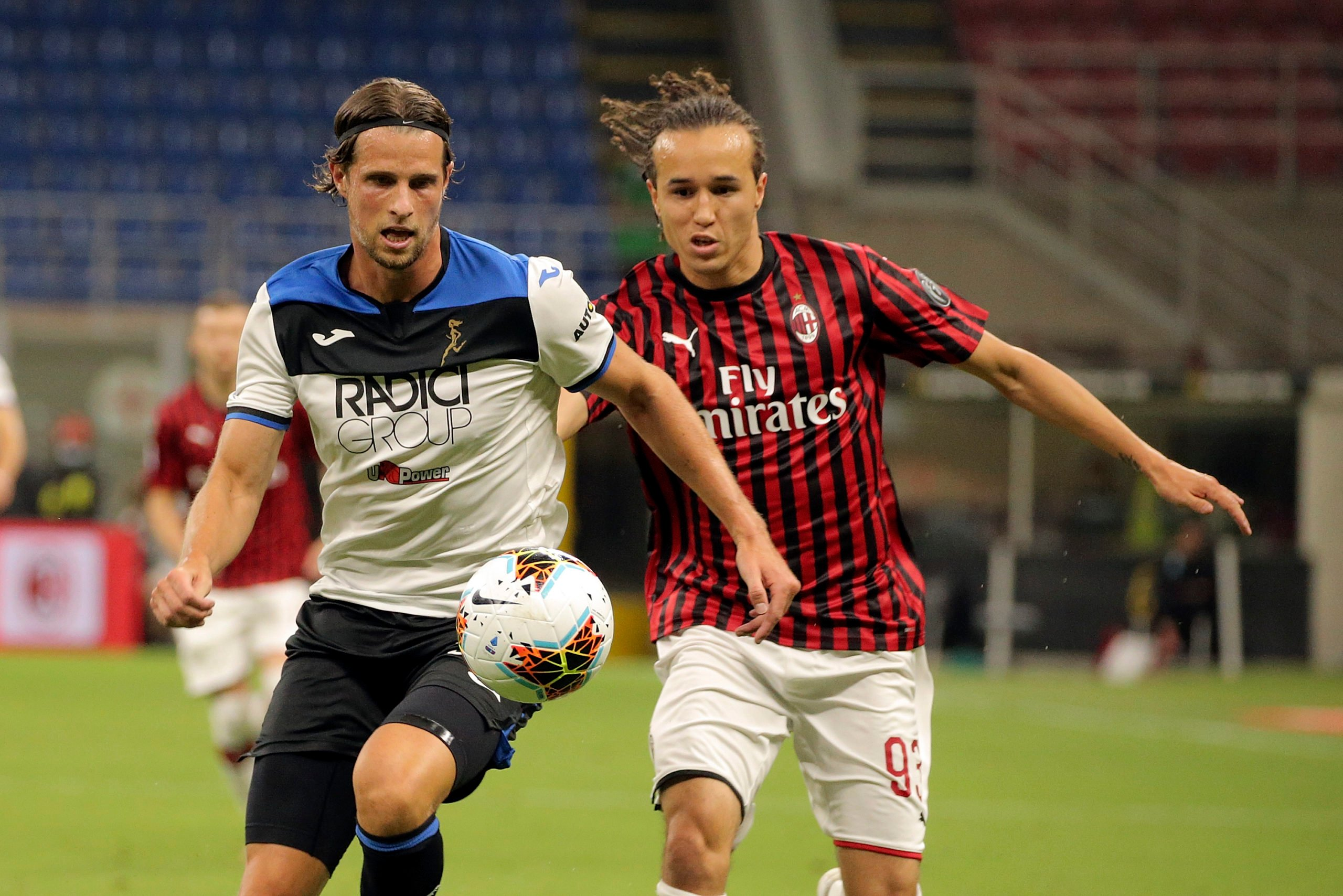 Laxalt in action for AC Milan