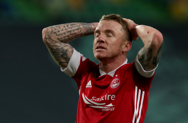 Hayes now wears the red of Aberdeen