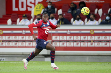 Jonathan David in action for Lille