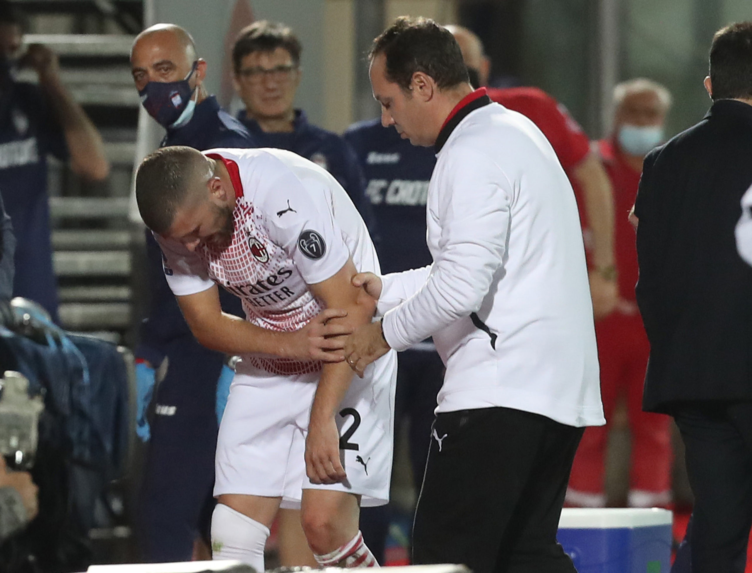 Ante Rebic is suffering from an elbow injury
