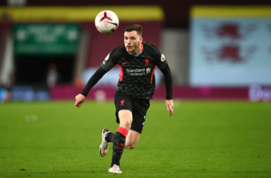 Andy Robertson in action for Liverpool