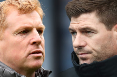 Celtic manager Neil Lennon and Rangers boss Steven Gerrard