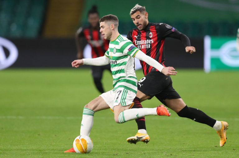 Ryan Christie made his Celtic return against Milan in midweek