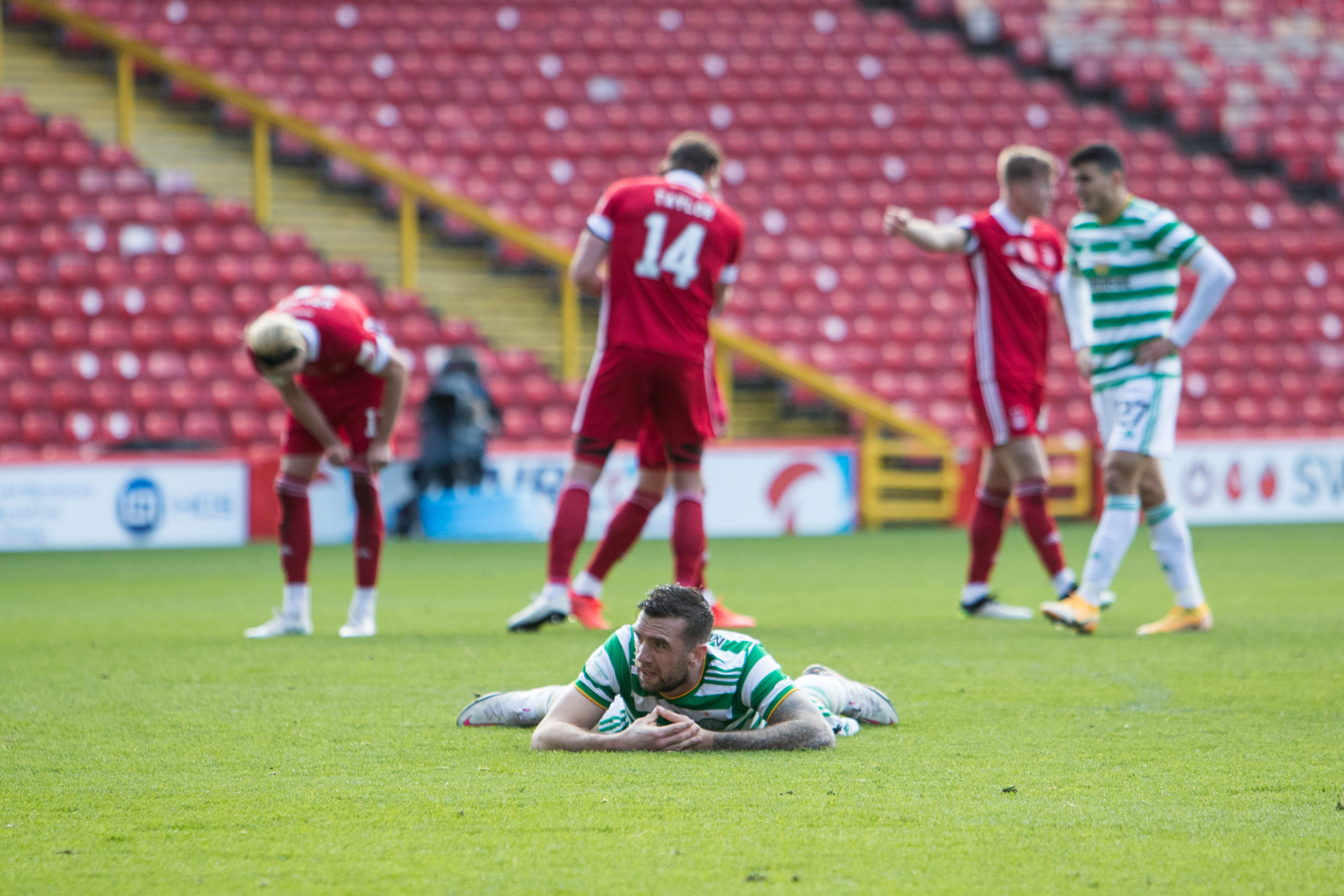 Celtic defender Shane Duffy after conceding vs Aberdeen