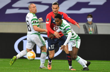 Celtic in action against Lille