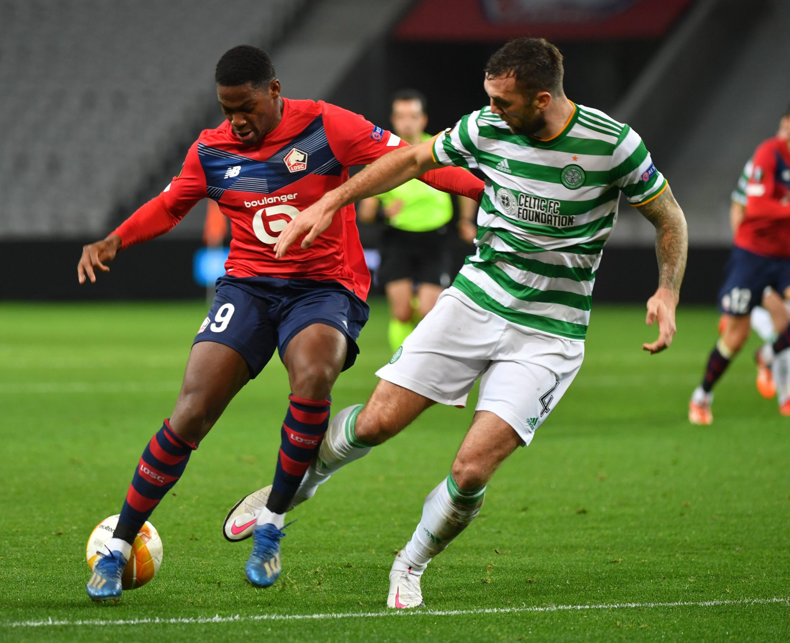 Shane Duffy in action against Lille