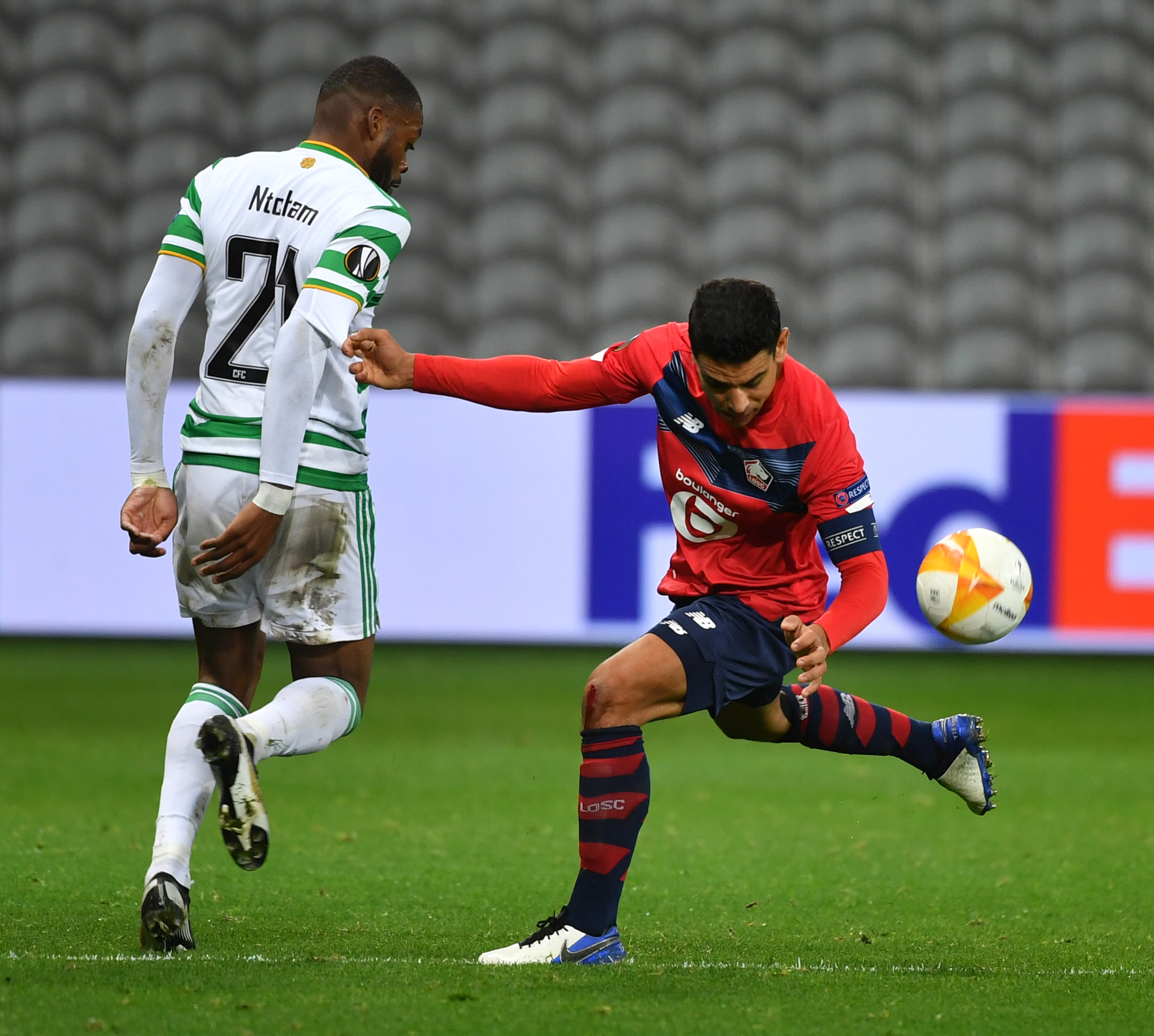 Olivier Ntcham in action against Lille