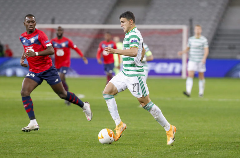 Mo Elyounoussi in action against Lille