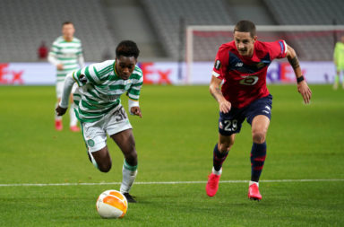 Frimpong in action against Lille