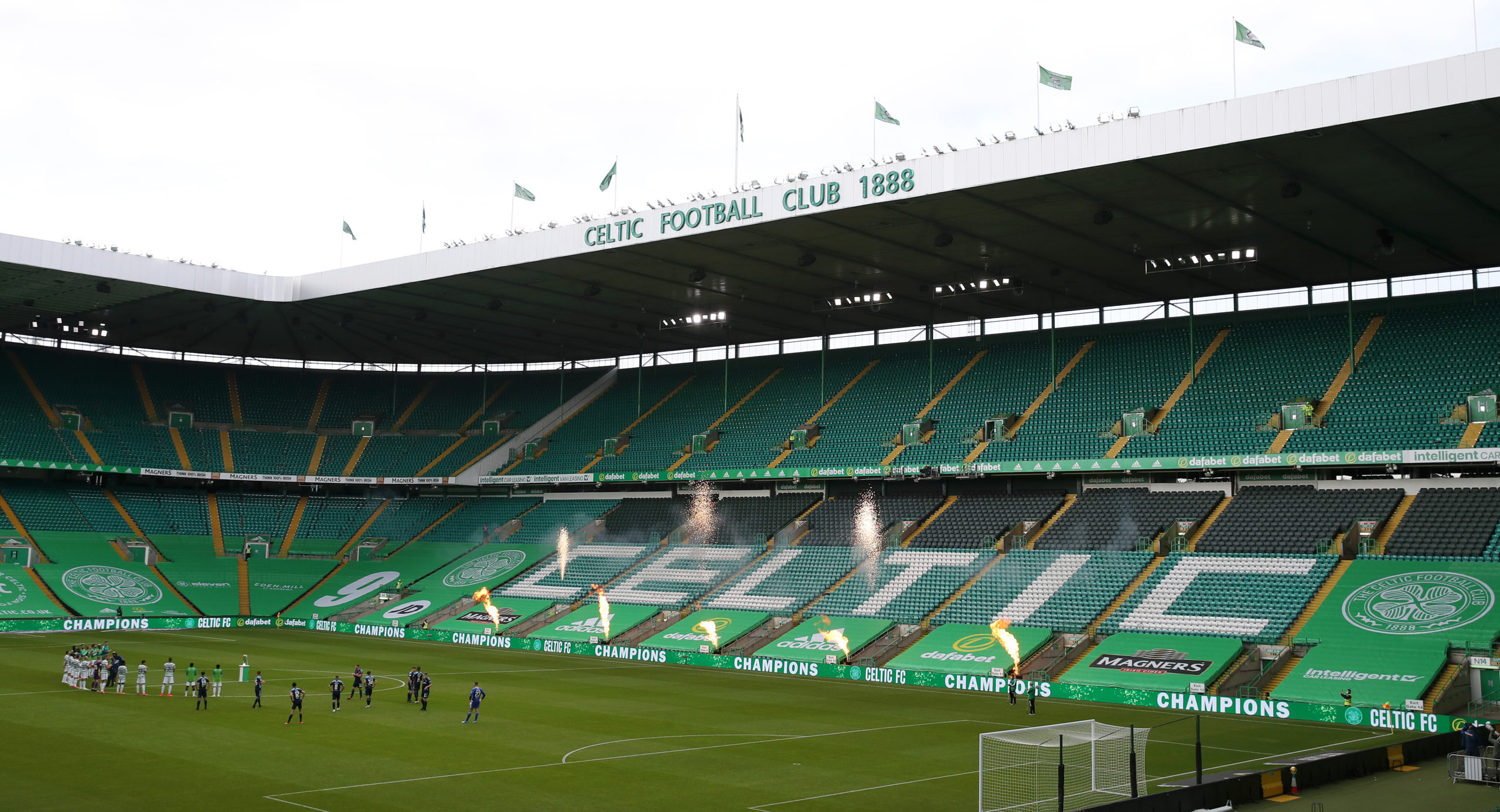 An empty Celtic Park