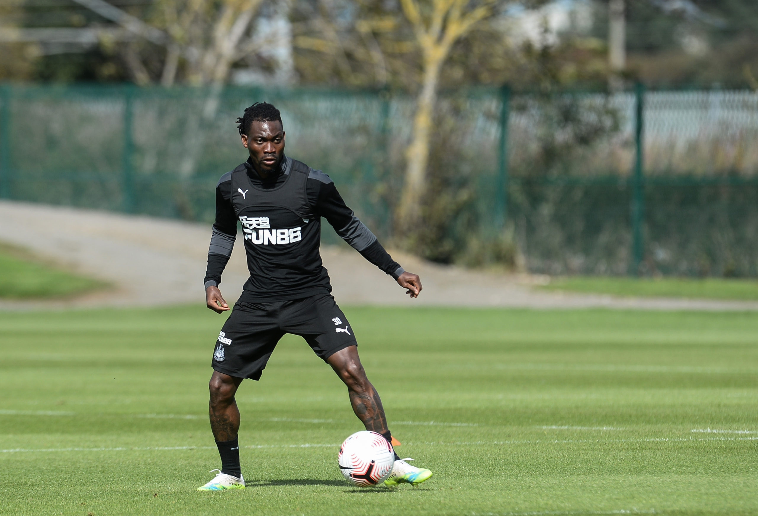 Christian Atsu in Newcastle United training