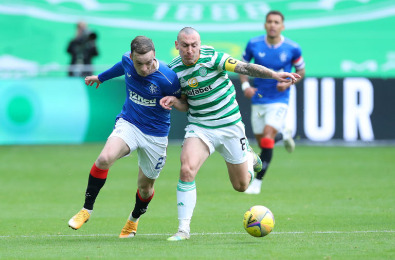 Scott Brown in action against Rangers