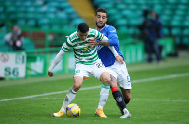 Mo Elyounoussi in action against Rangers