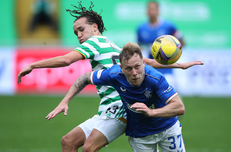 Diego Laxalt in action against Rangers