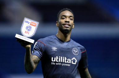Ivan Toney with a man-of-the-match award