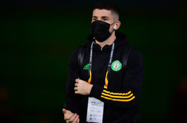 Celtic's Ryan Christie prior to the game against Milan