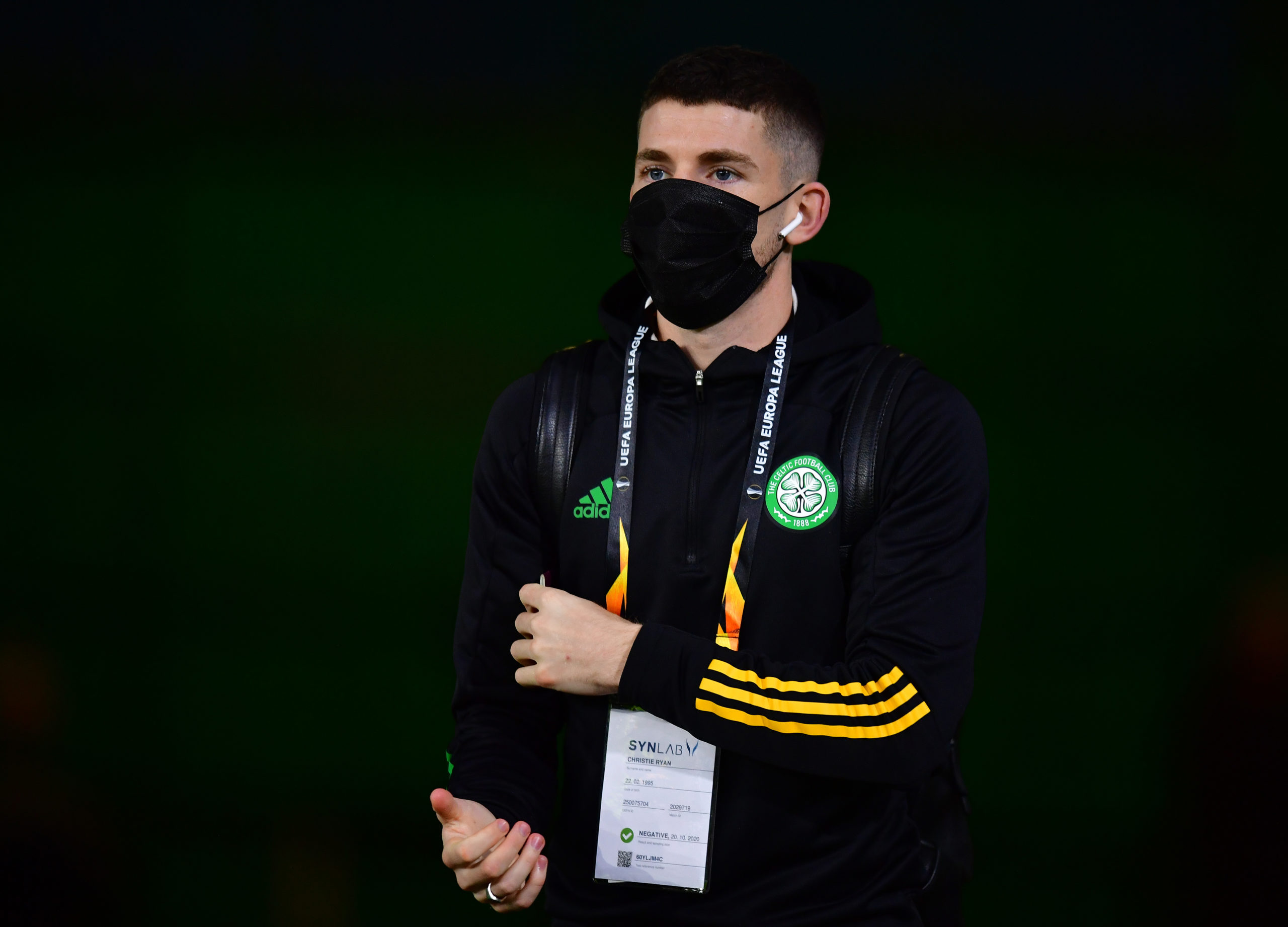 Ryan Christie prior to the game against Milan