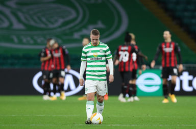 Leigh Griffiths struggled against MIlan