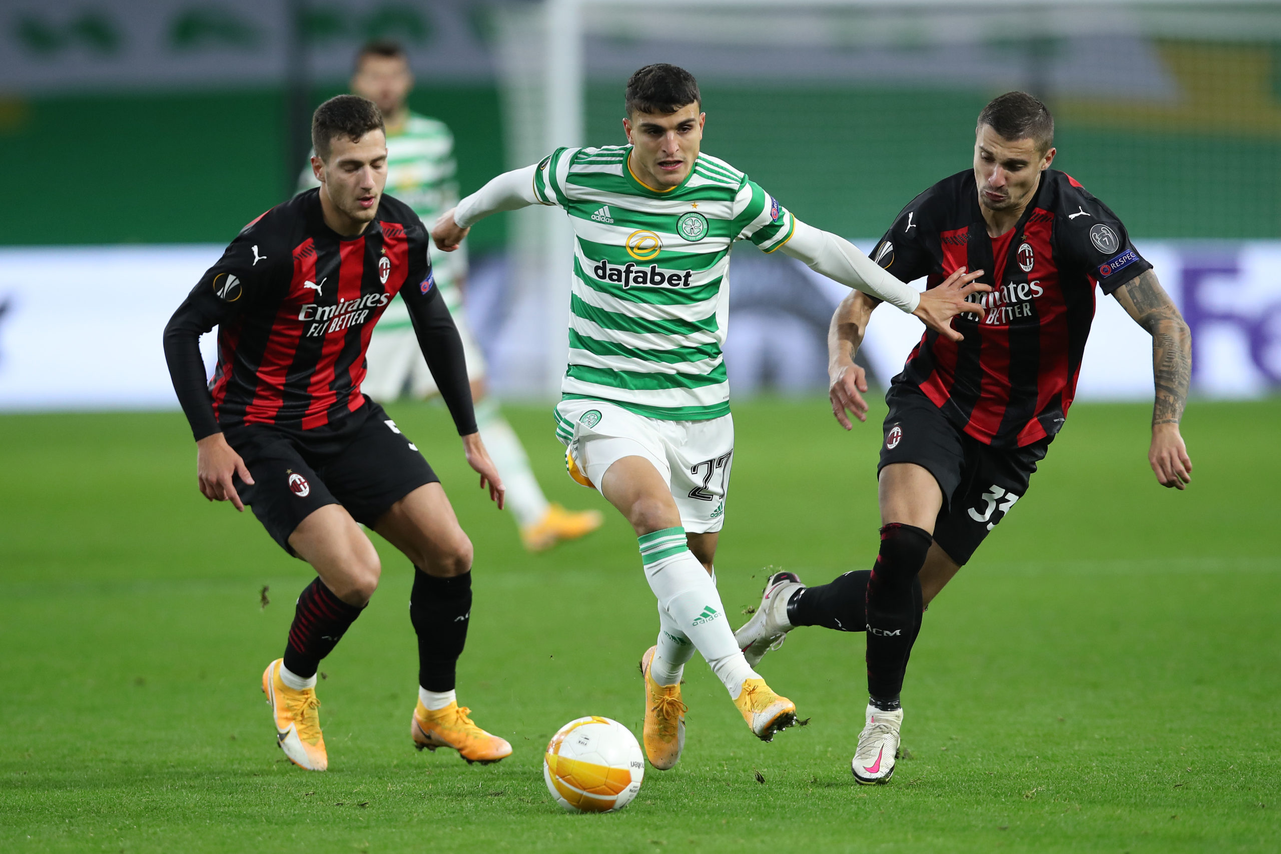 Mo Elyounoussi in action against Milan