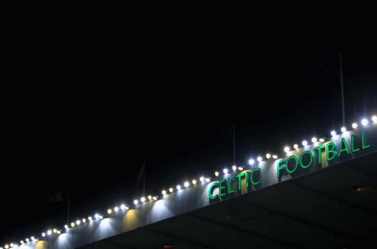 The floodlights at Celtic Park