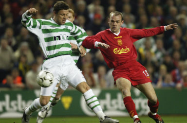 Danny Murphy in action against Celtic