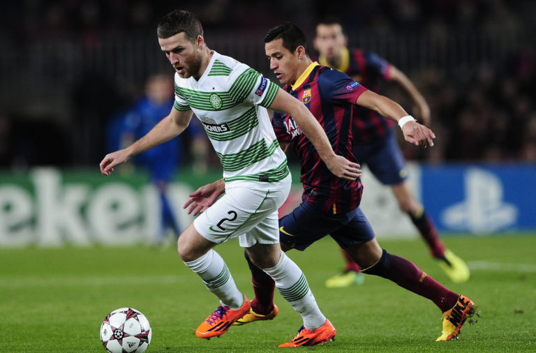 Adam Matthews against Barcelona
