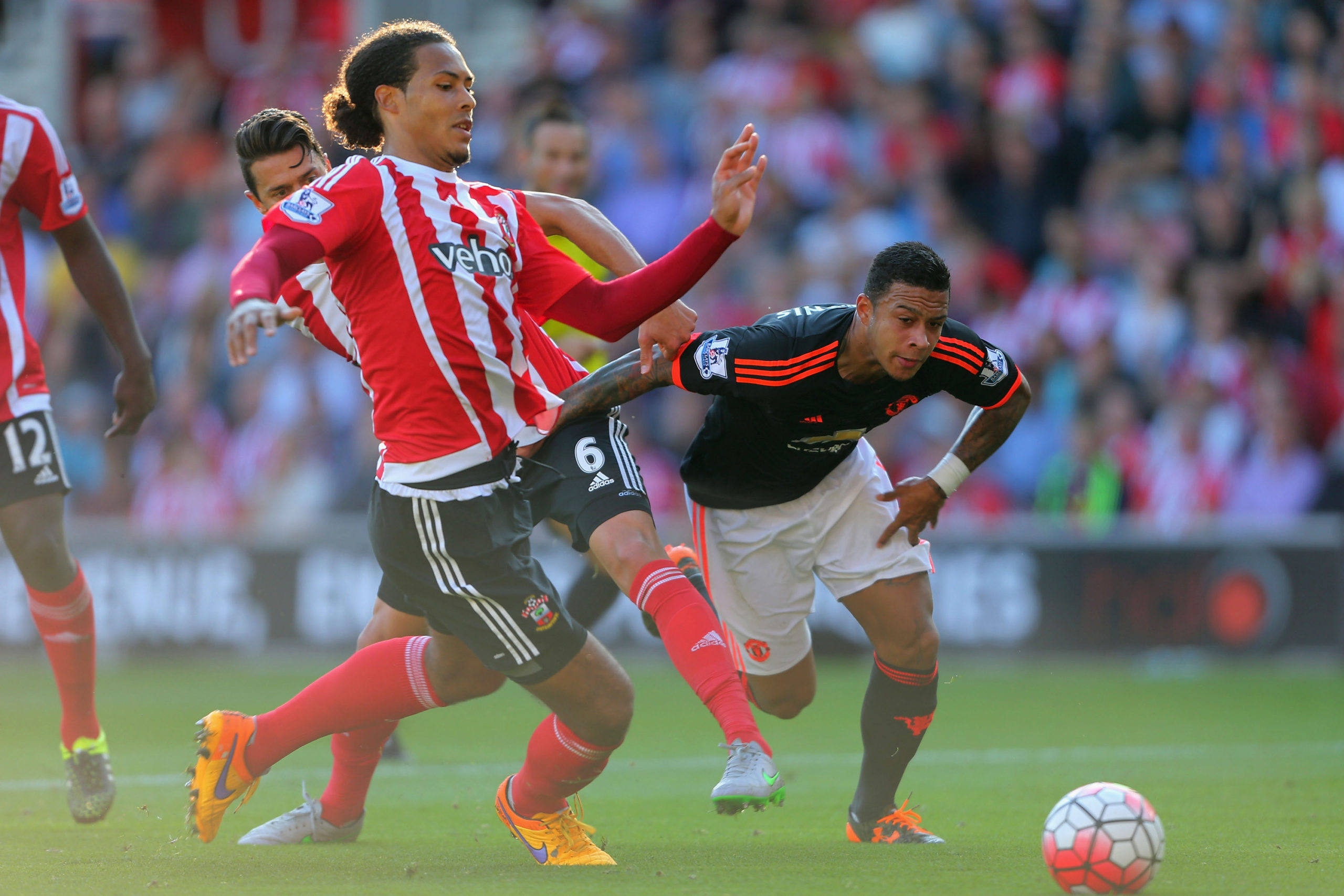 Van Dijk in action for Southampton