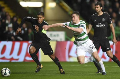 Anthony Ralston in action against PSG