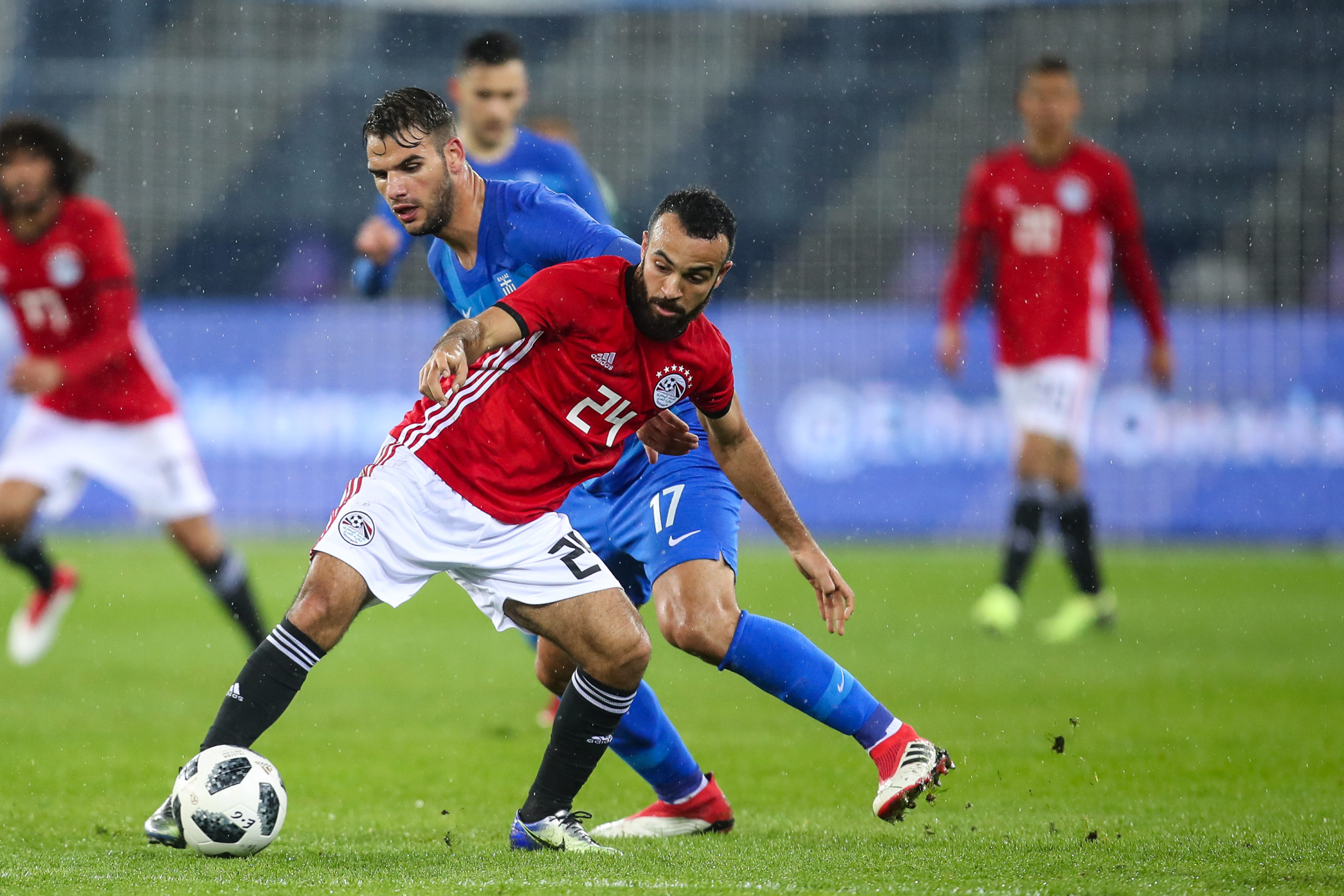 Reported Celtic target Mohamed Magdy in action for Egypt