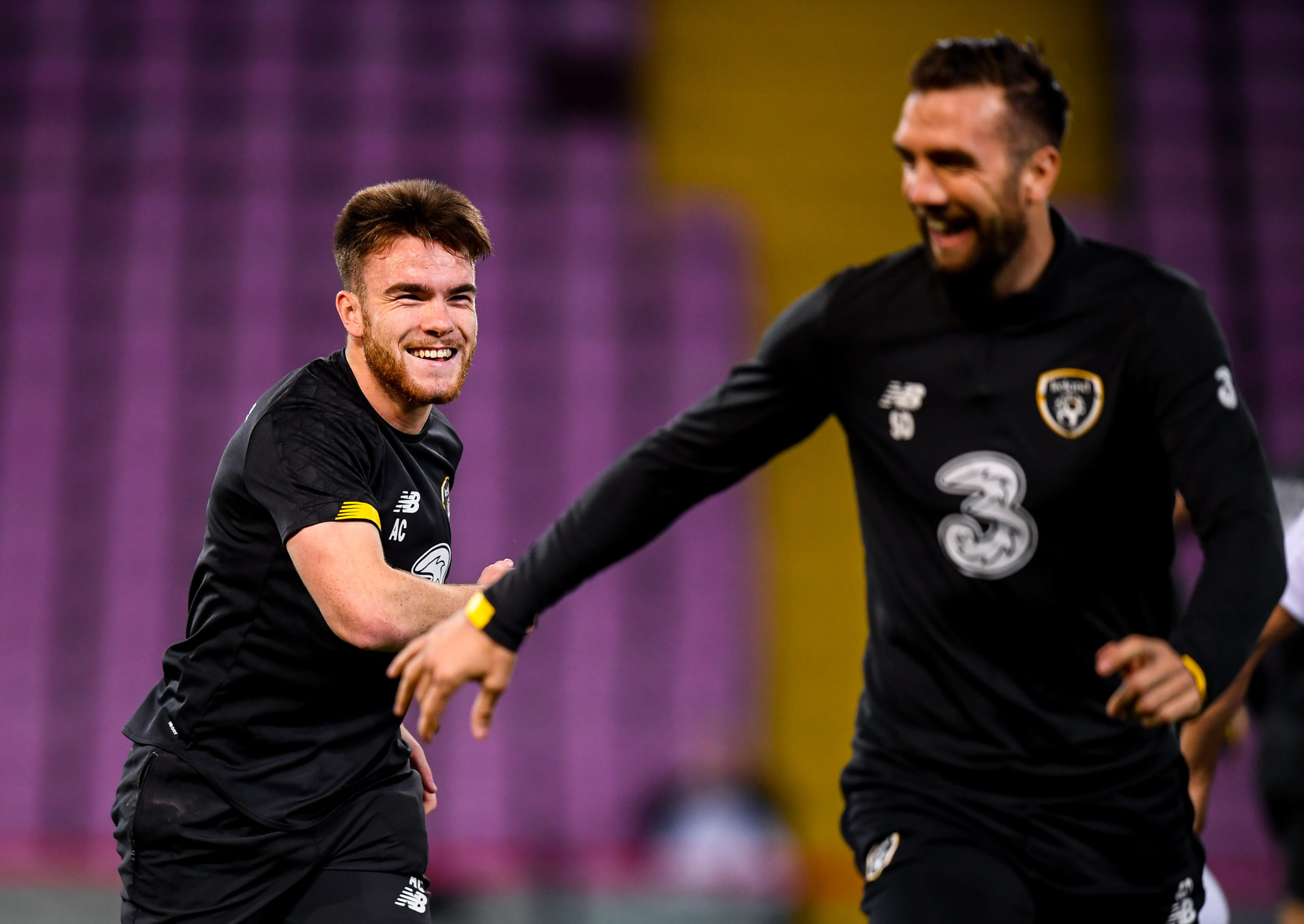 Aaron Connolly and Shane Duffy