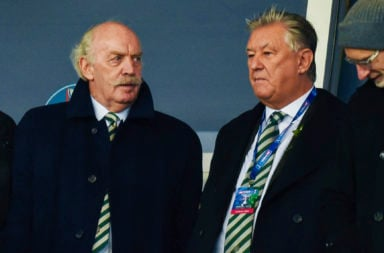 Celtic's largest shareholder Dermot Desmond and Chief Executive Peter Lawwell