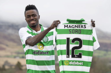 Ismaila Soro on the day he joined Celtic
