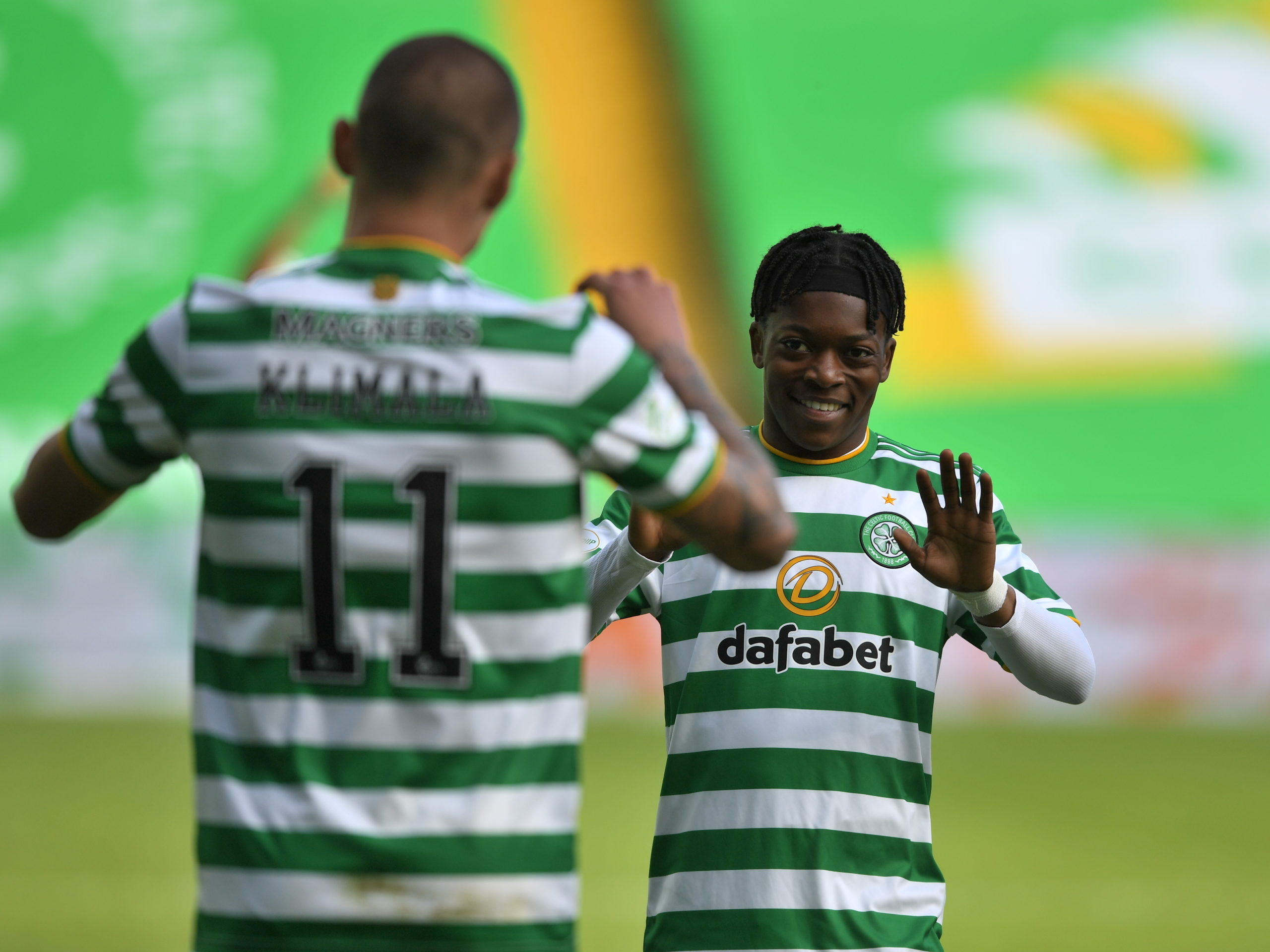 Karamoko Dembele in action for Celtic