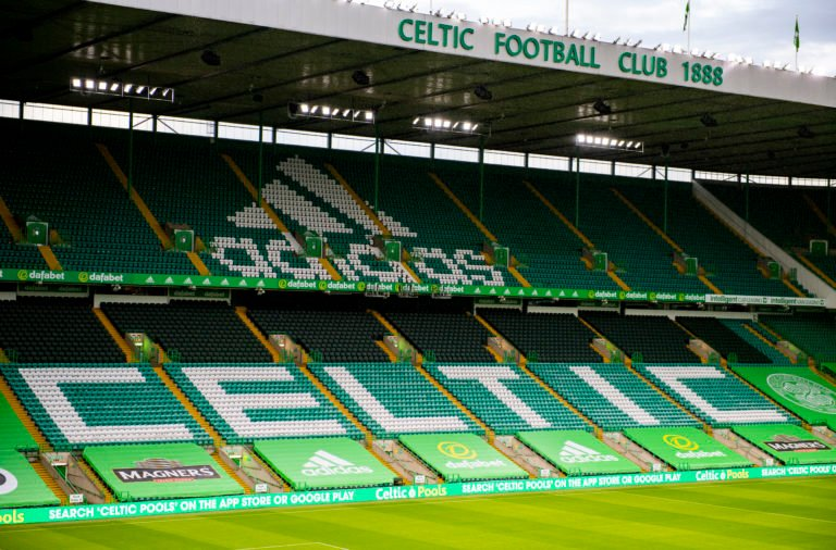 Adidas branding at Celtic Park