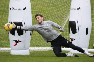 Vasilis Barkas in Celtic training