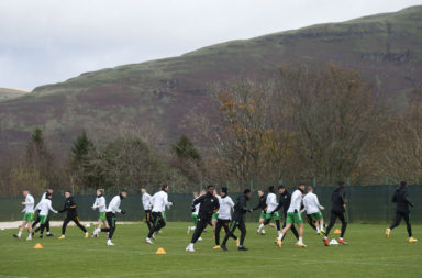 Celtic training at Lennoxtown