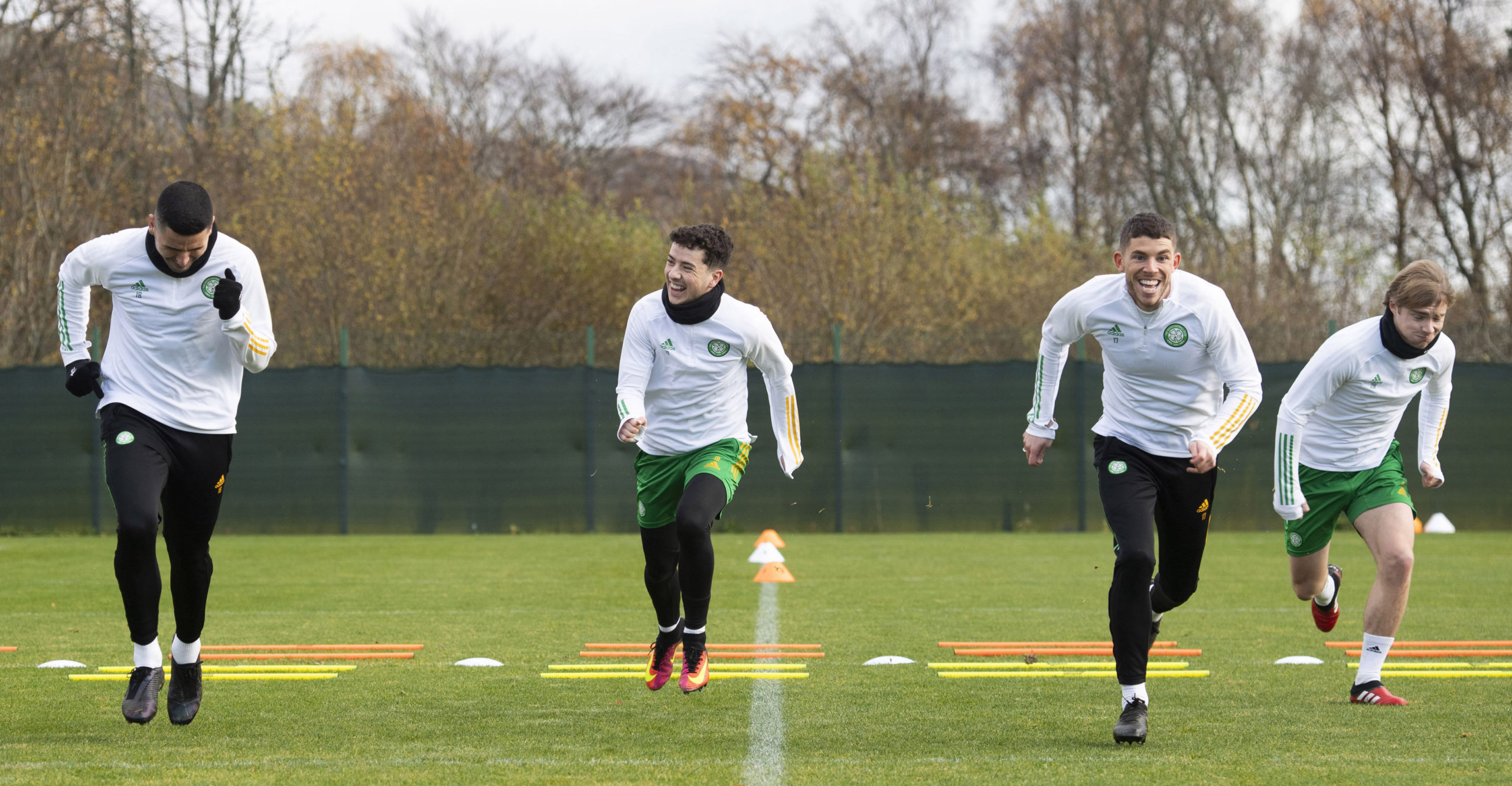 Mikey Johnston in Celtic training