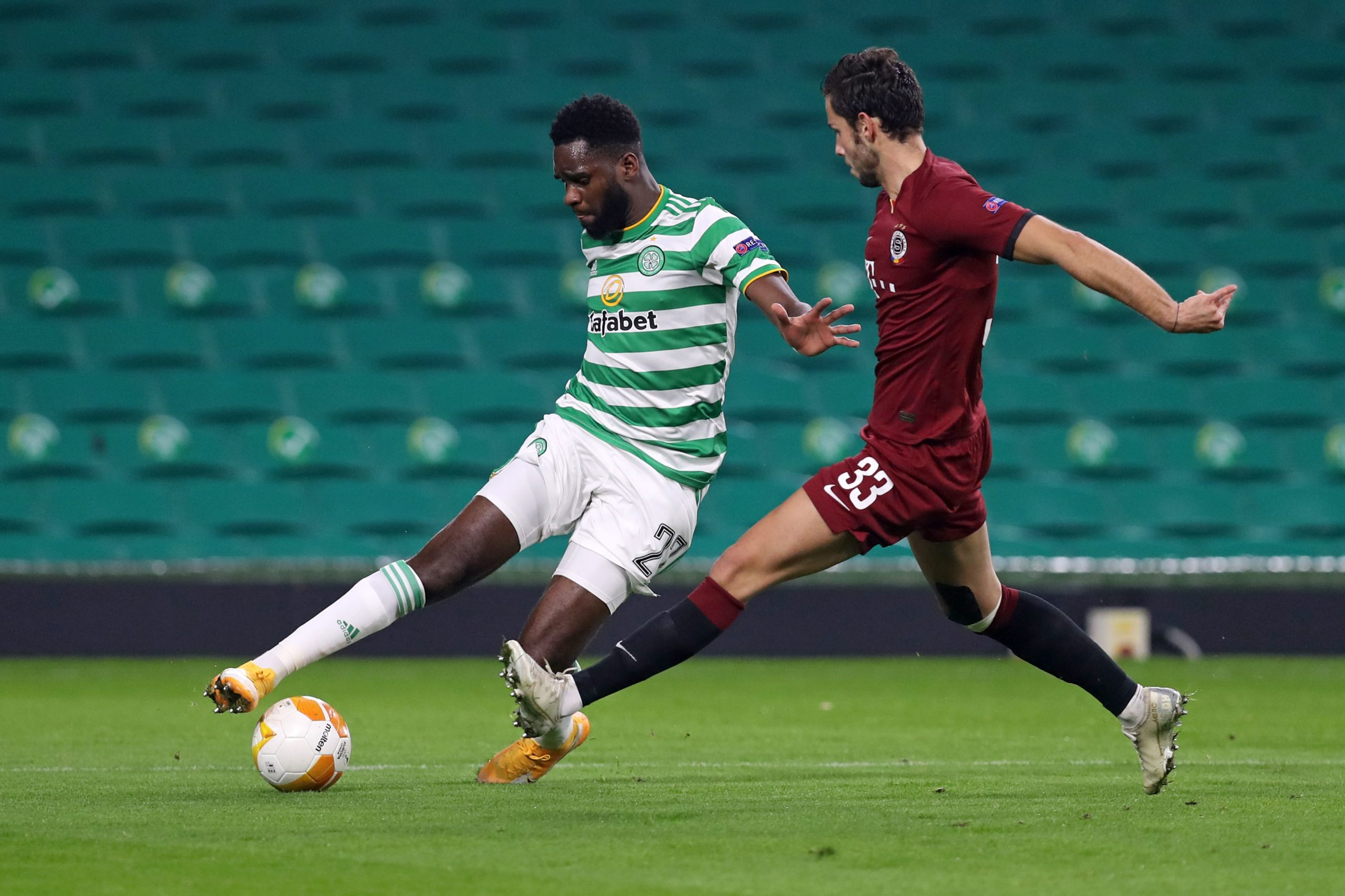 Edouard in action against Sparta Prague
