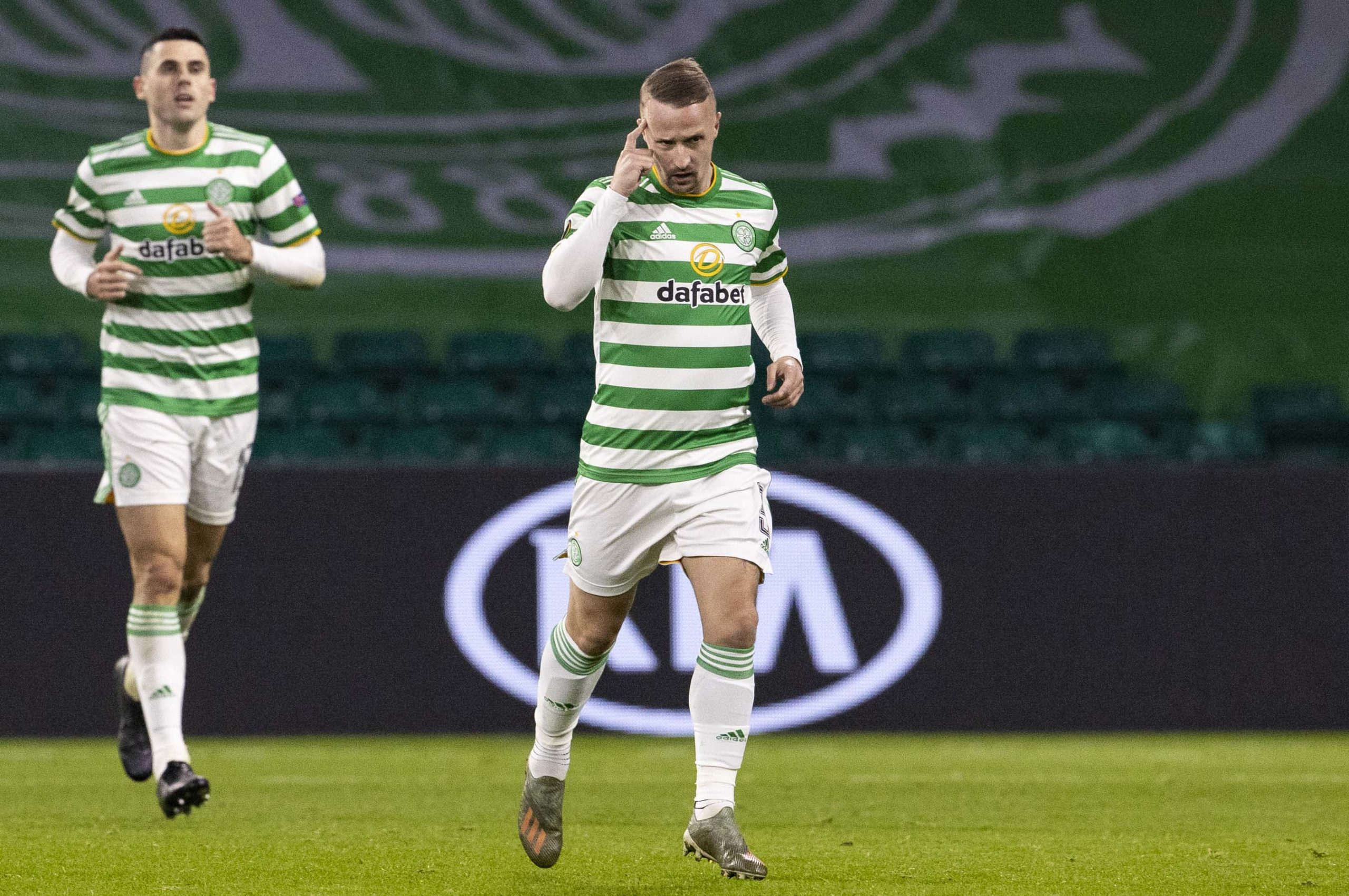 Leigh Griffiths after scoring against Sparta Prague