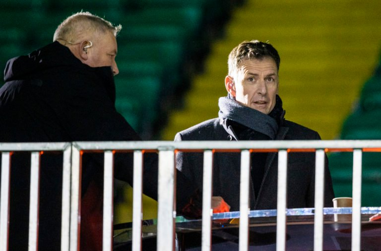 Chris Sutton at Celtic Park on Thursday