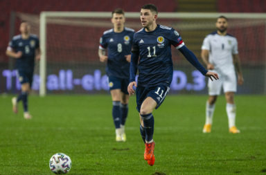 Celtic star Ryan Christie in action for Scotland