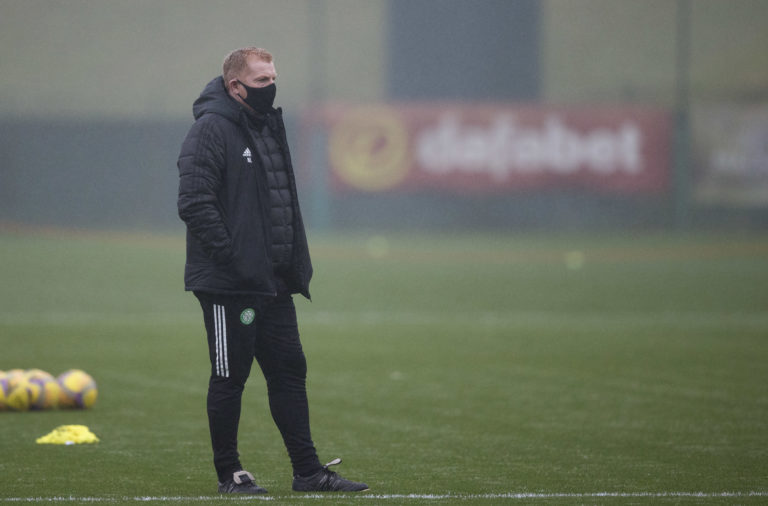 Neil Lennon at Celtic training